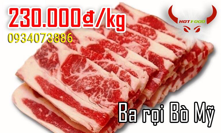 Ba rọi bò Mỹ - nguyên liệu chế biến nhiều món ăn hấp dẫn