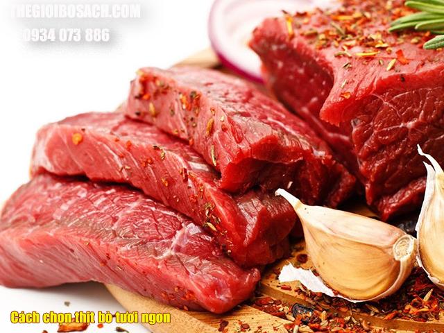 Cạch chọn mua thịt bò tươi ngon