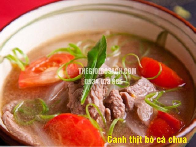 Canh thịt bò cà chua mát lành cho ngày hè