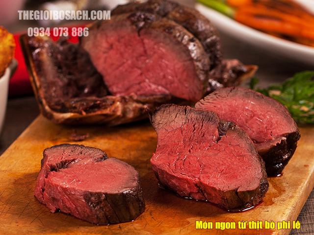 Món ngon từ thịt bò phi lê