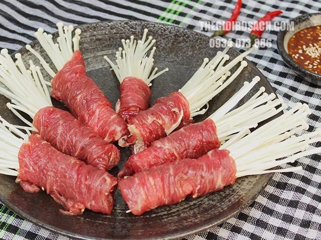Một vài lưu ý để chế biến món thịt bò cuộn nấm kim chấm nướng ngon tuyệt hảo