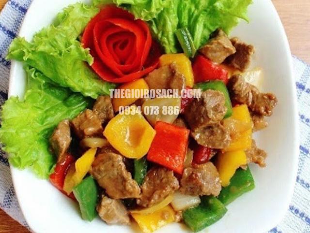 thịt bò xáo ớt chuông thơm ngon
