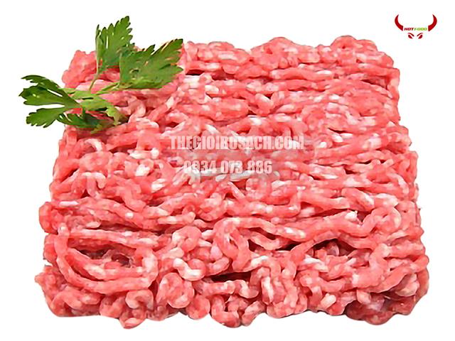 Thịt bò Mỹ xay có giá thành