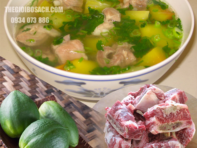 Cách nấu món xương bò hầm đu đủ thơm ngon