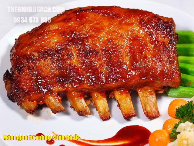 Món ngon được chế biến từ xương sườn bò Úc